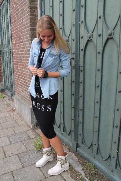 Dress - Bershka Blouse - Zara